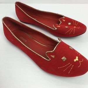 Nevada Sophisticated Cat Ballet Flat Doll Shoes